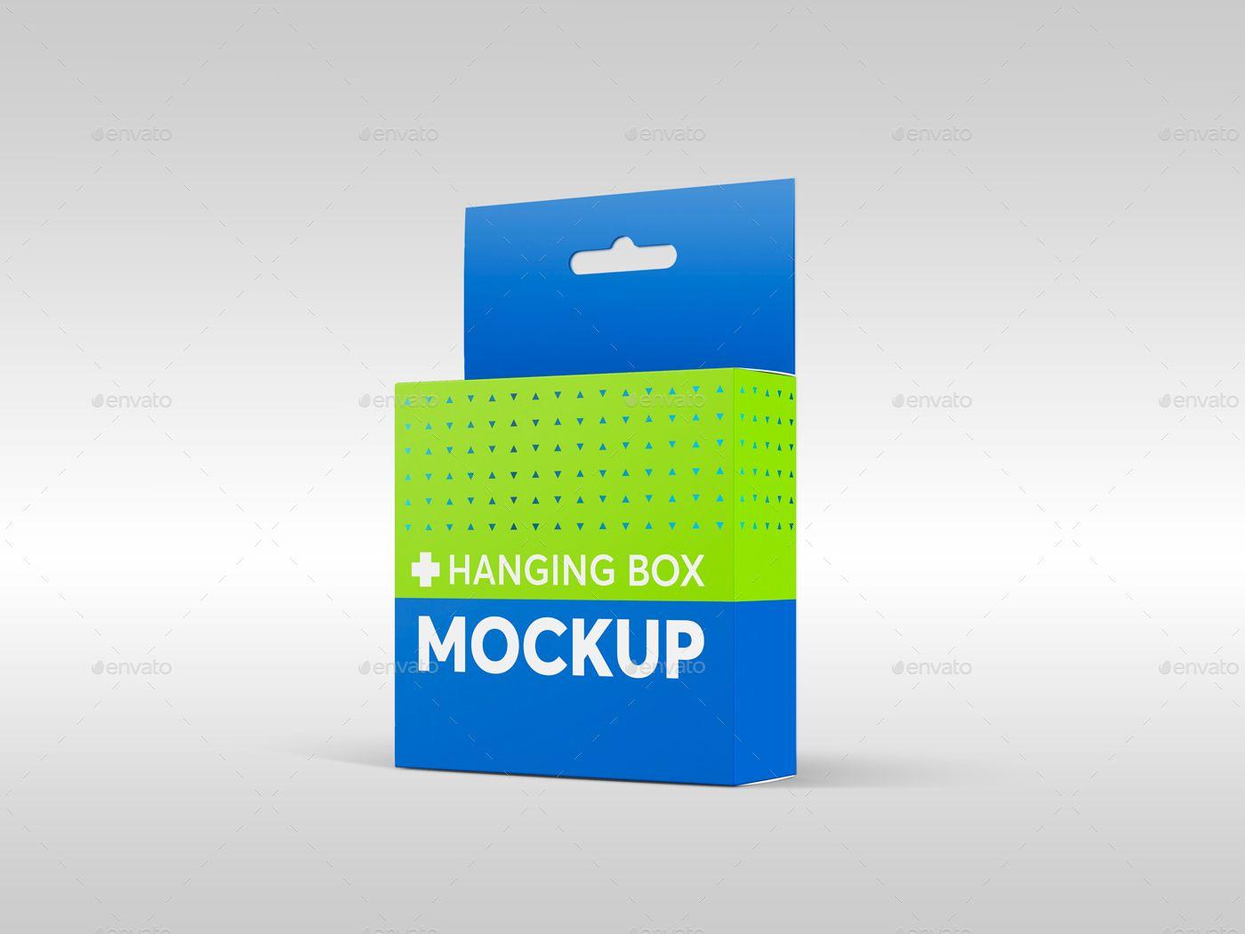 Download Hanging Flat Square Box Mockups Box Mockup Box Packaging Design Graphic Design Typography