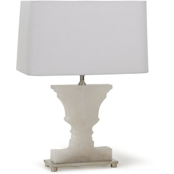 Andersen Hollywood Regency Mini Alabaster Urn Nickel Table Lamp ($398) ❤ liked on Polyvore featuring home, lighting, table lamps, beige shades, nickel table lamp, mini lamps, miniature table lamps and alabaster shade