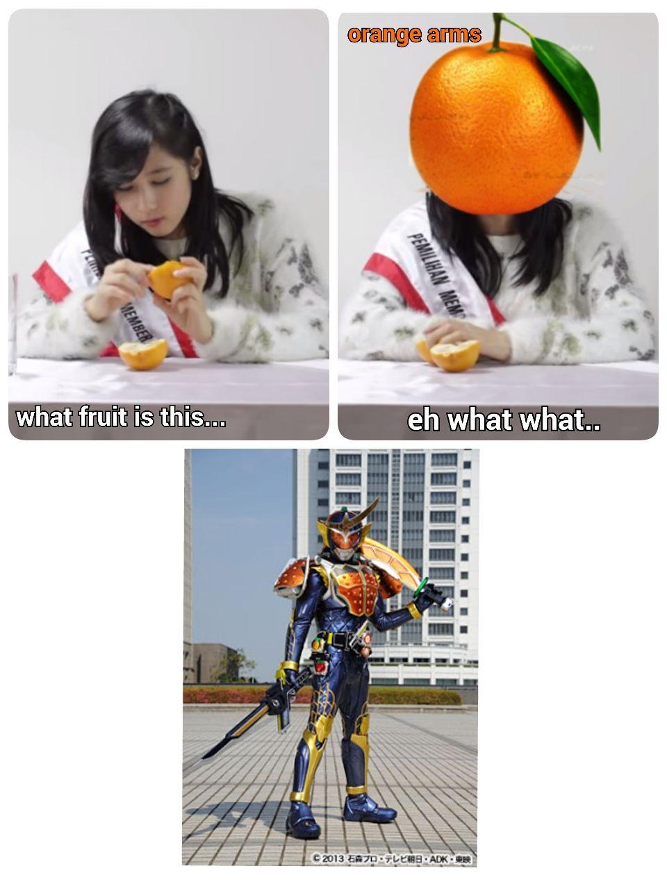 orange arm Meme