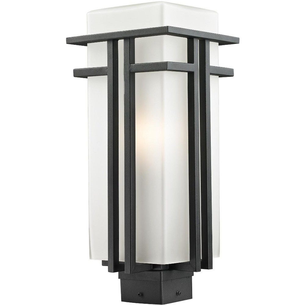 Z Lite 549phb Abbey 1 Light Outdoor Post Light Black Post Lights Outdoor Post Light Fixtures