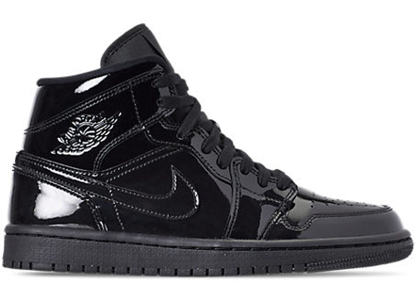 da6843d2 Check out the Jordan 1 Mid SE Triple Black Patent (W) available on StockX