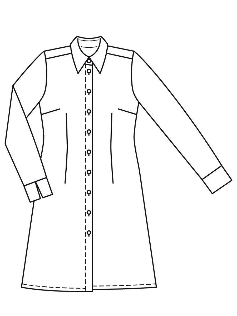 Burda schnittmuster kleid langarm
