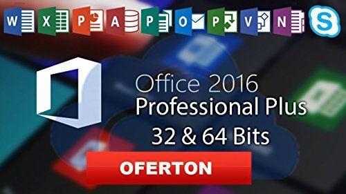 MICROSOFT OFFICE 2016 PRO PLUS KEY/CLAVE LICENCIA 32/64 BITS MULTILENCUAJE