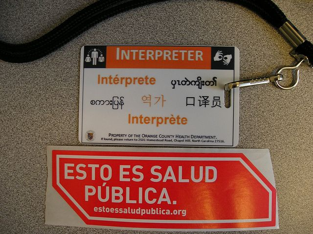 Language Interpreter ID Badge by Orange County Health Department, via Flickr