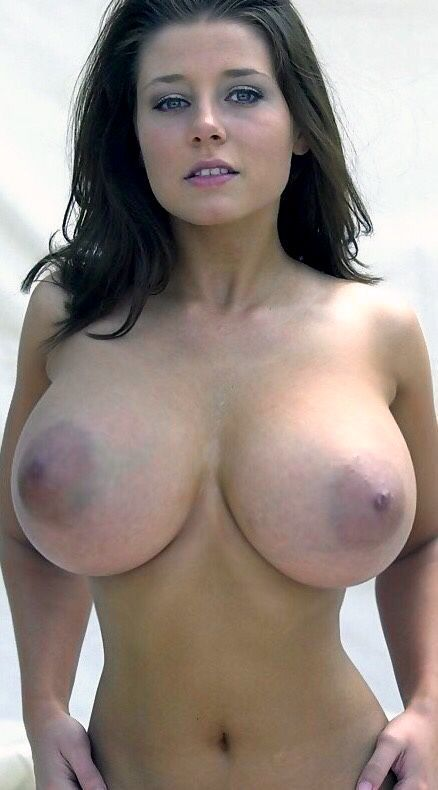 Curvy voluptuous girl big naked tits