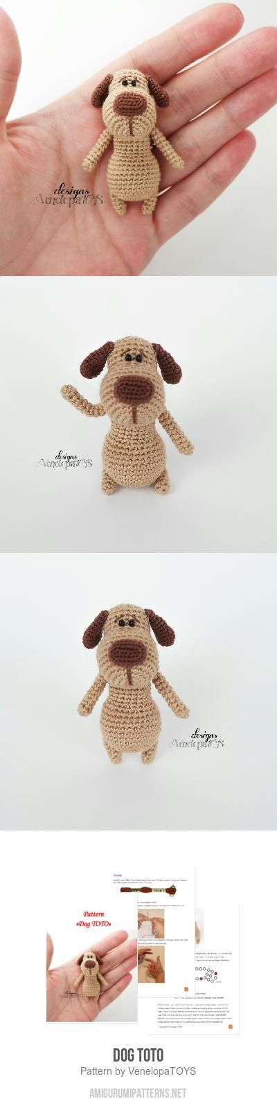 Dog TOTO amigurumi pattern | Ganchillo | Pinterest | Croché ...