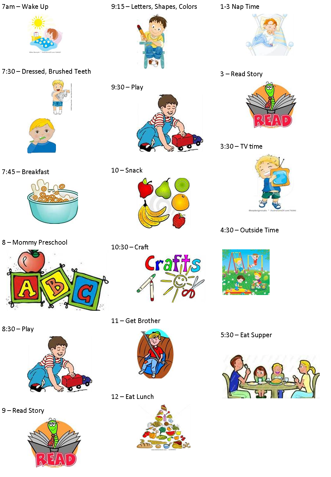 Our 7 Acres Creating A Toddler Preschooler Daily Schedule