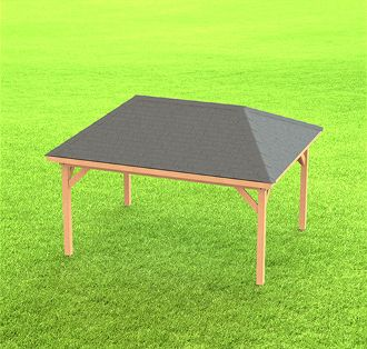 Hip Roof Gazebo Building Plans-Perfect for Hot Tubs - 12' x
