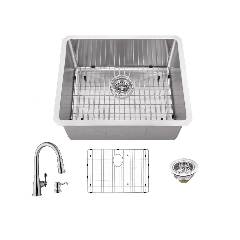 Ipt Sink Company Undermount Stainless Steel 23 In 16 Gauge Bar