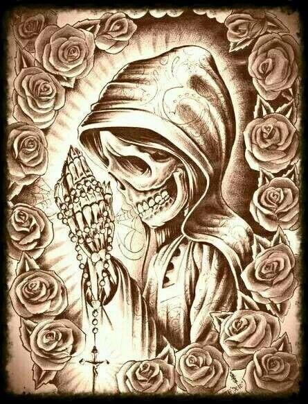 Pin De Elkan En Santa Muerte Arte Sobre La Muerte Santa Muerte