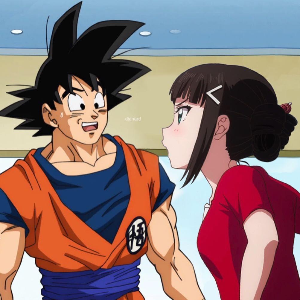 I Haven T Eaten Anything All Day Besides Pringle Sticks Smh Goku Diakurosawa Dragonballsuper Lovelive Anime Crossover Dia Kurosawa Anime