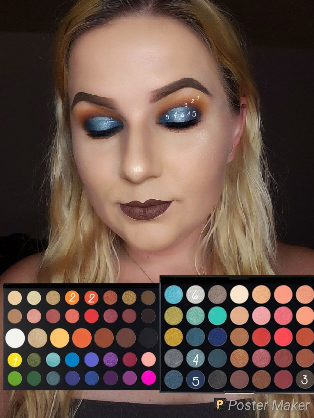 Look by number using the James Charles palette and the 35H