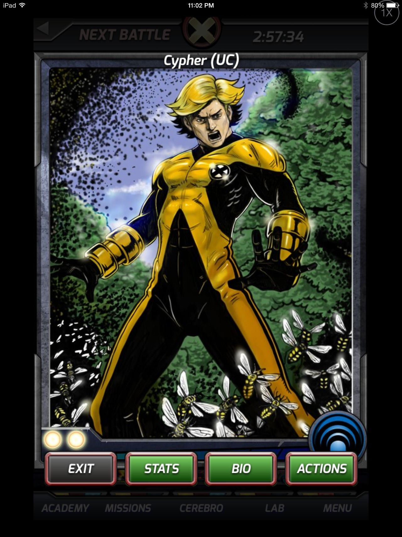 Cypher From X Men Battle For The Atom Game Mutant X Men Character