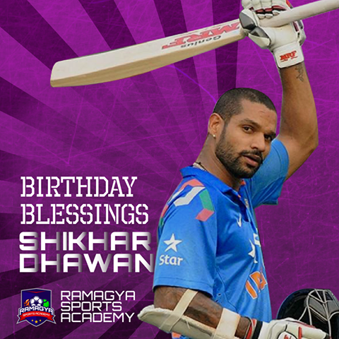 Birthday Blessings to the Gabbar of Indian Cricket Team