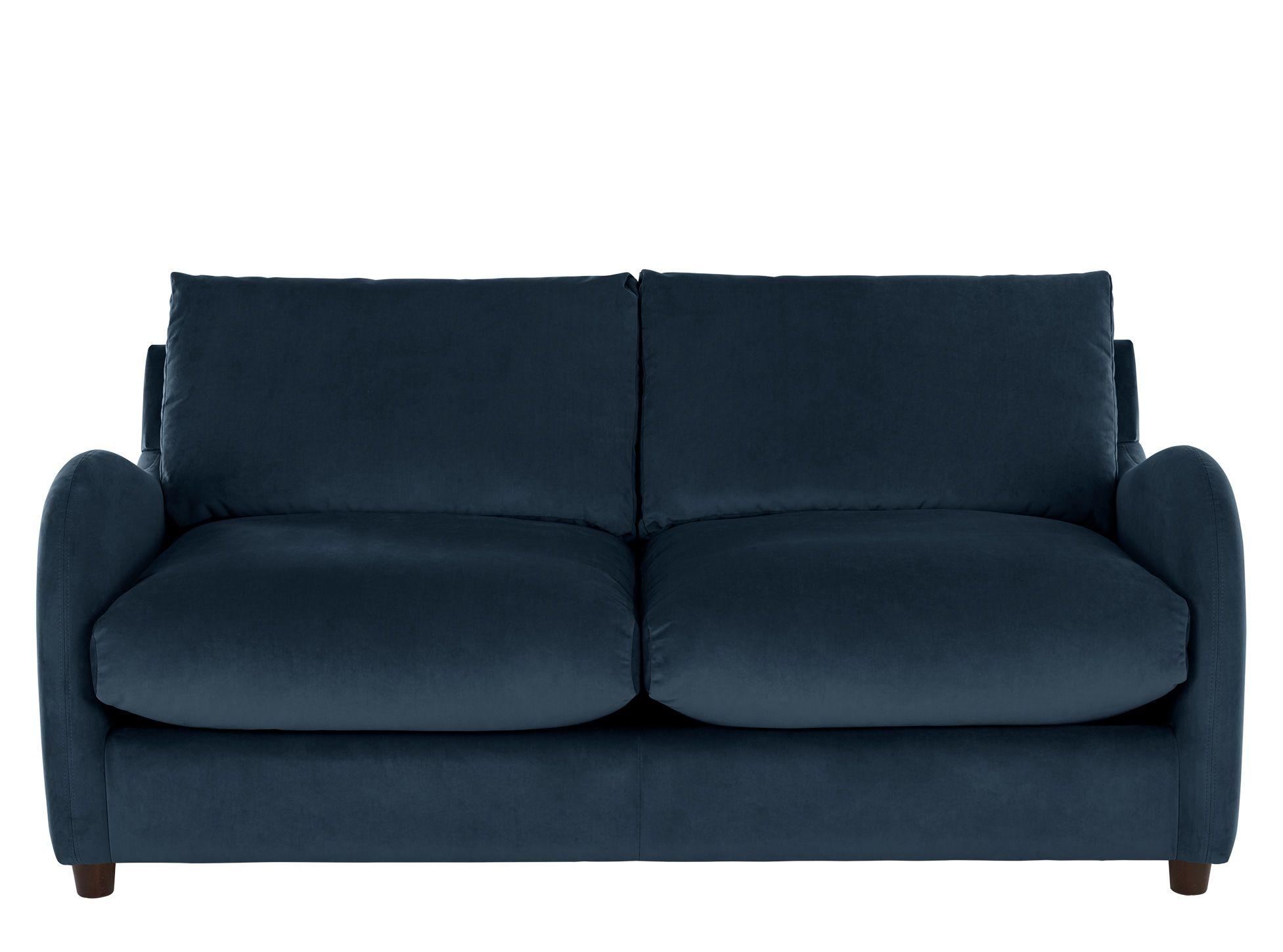 Sofia 2 Seater Sofabed Plush Indigo Velvet Zolder Huis Sofa S