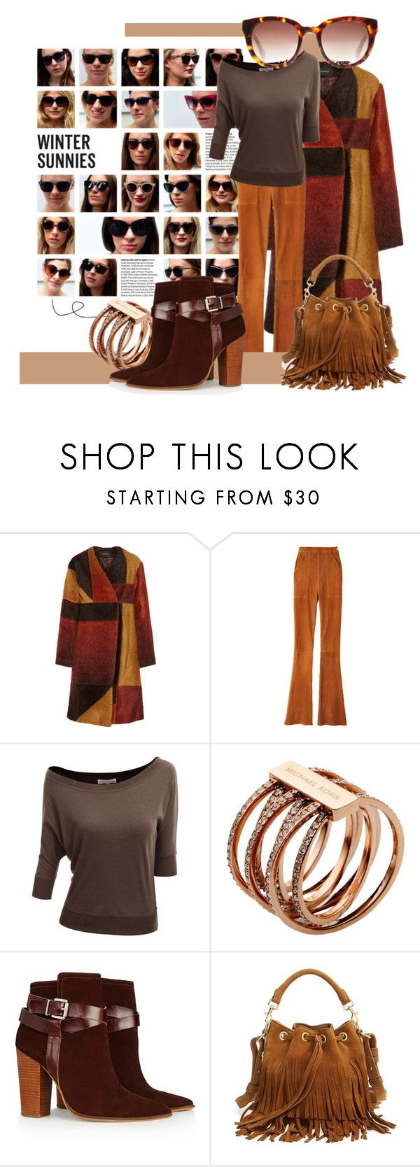 """Winter sunnies"" by beautifulgirlsblog on Polyvore featuring Thakoon, Frame Denim, Doublju, Michael Kors, Warehouse, Yves Saint Laurent and wintersunnies"