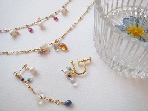 【自由が丘】鎖B / アコヤ真珠のブレスレット&押し花小物入れ作り