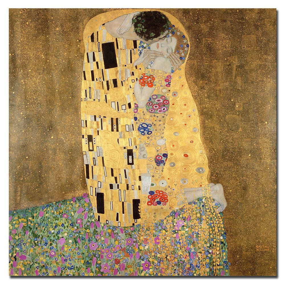 Gustav Klimt \'The Kiss 1907-8\' Canvas Art | Gustav Klimt | Pinterest ...