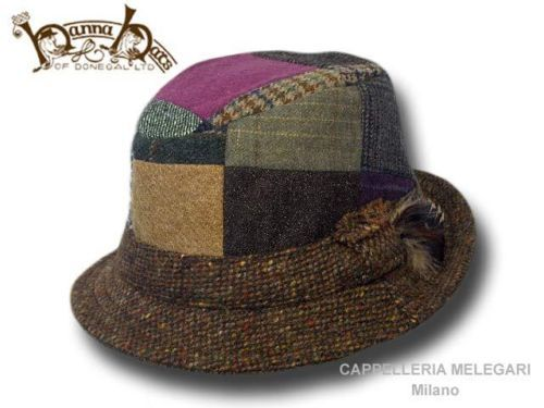 Cappello irlandese patchwork Hanna Hats Walking tweed Hat fc58b2852ab0