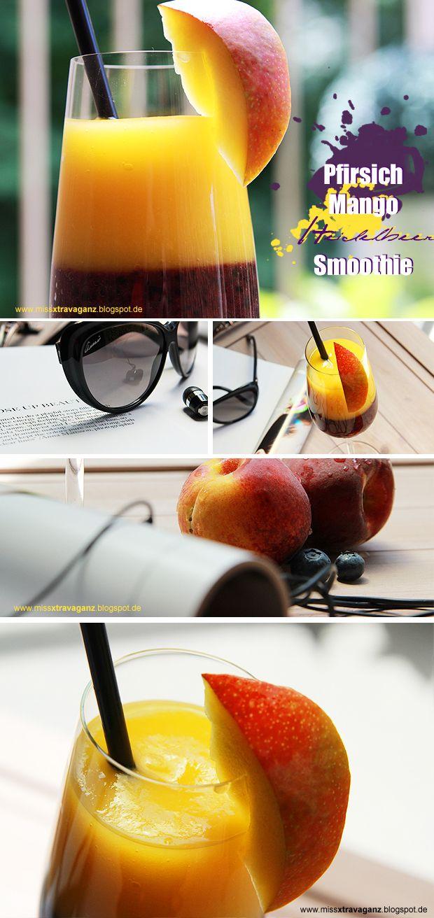! Miss von Xtravaganz !: [Rezept] Pfirsich-Mango-Heidelbeer-Smoothie