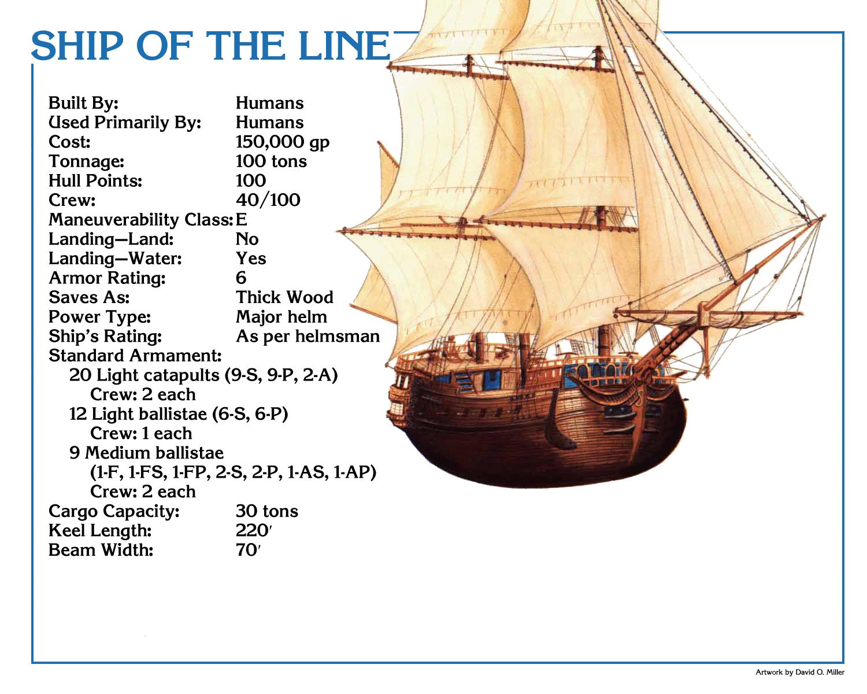 Mystaran Skyships In Spelljammer Part I Ship Of The Line