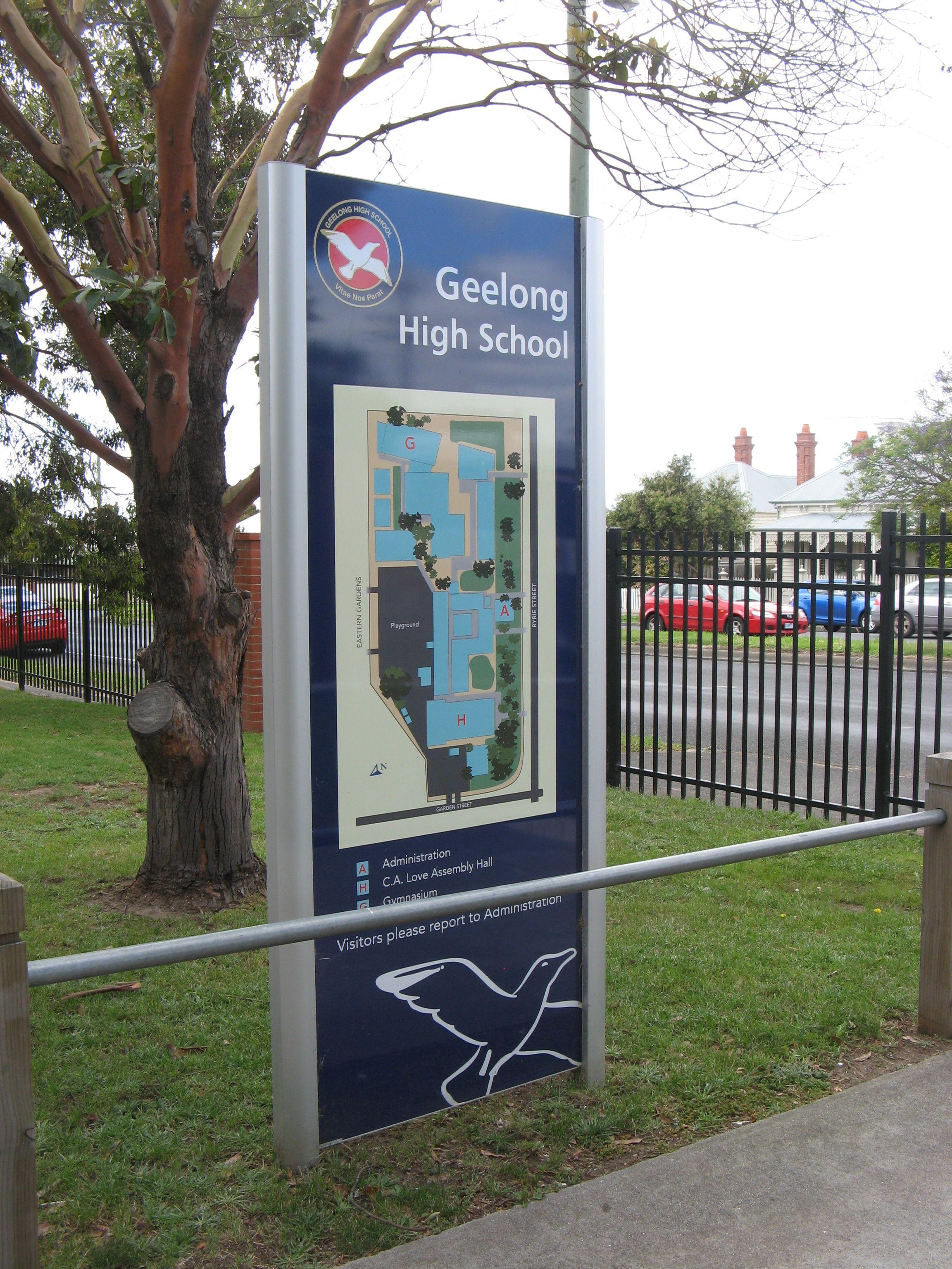 Colton High School Campus Map.Geelong High School Map Signage Wayfinding Csi Directory