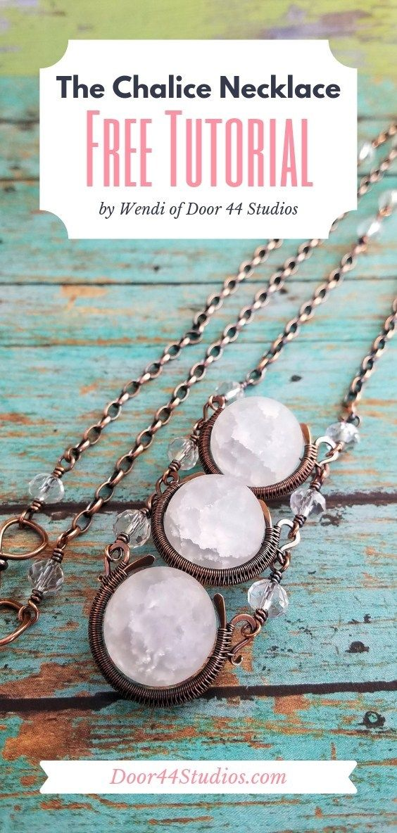 Photo of Free Jewelry Tutorial: Weave a Stunning Chalice Necklace | Door 44 Studios