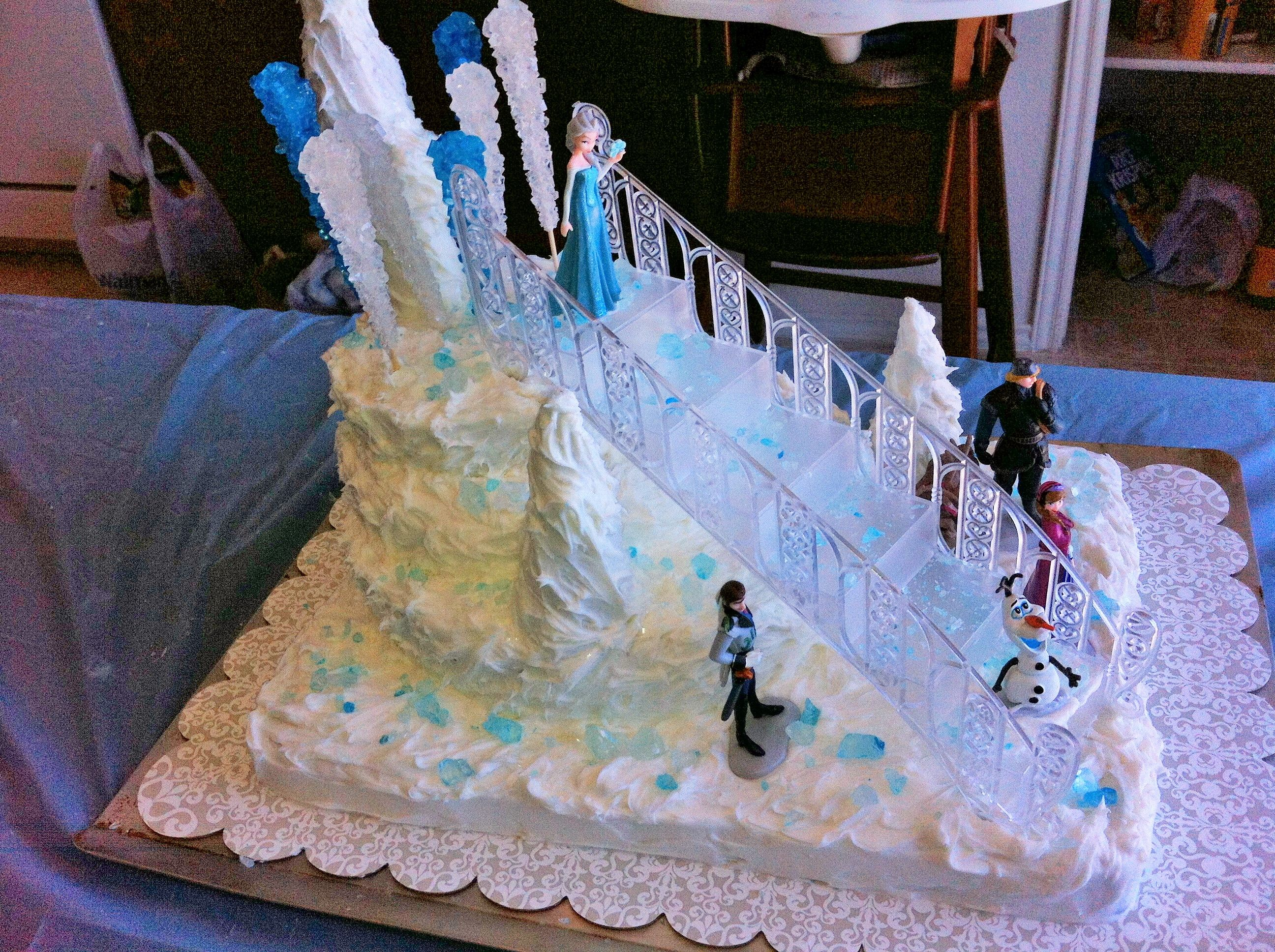 Here S The Cake I Made For My Daughter S Frozen Birthday