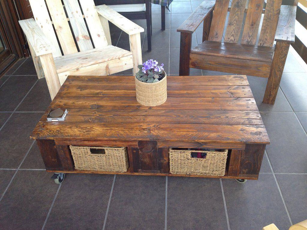 Sillas y mesas hechas con palets. | Pallets
