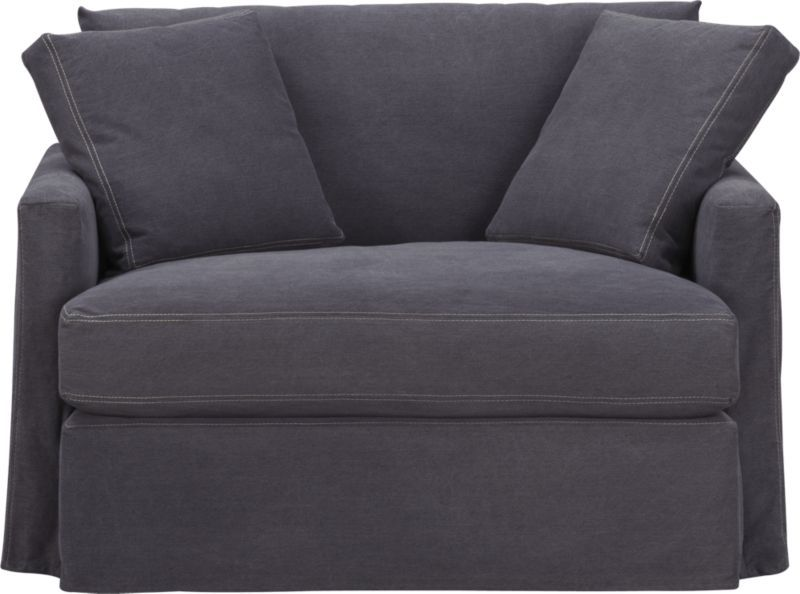 Best Lounge Slipcovered Chair And A Half Crate And Barrel 400 x 300