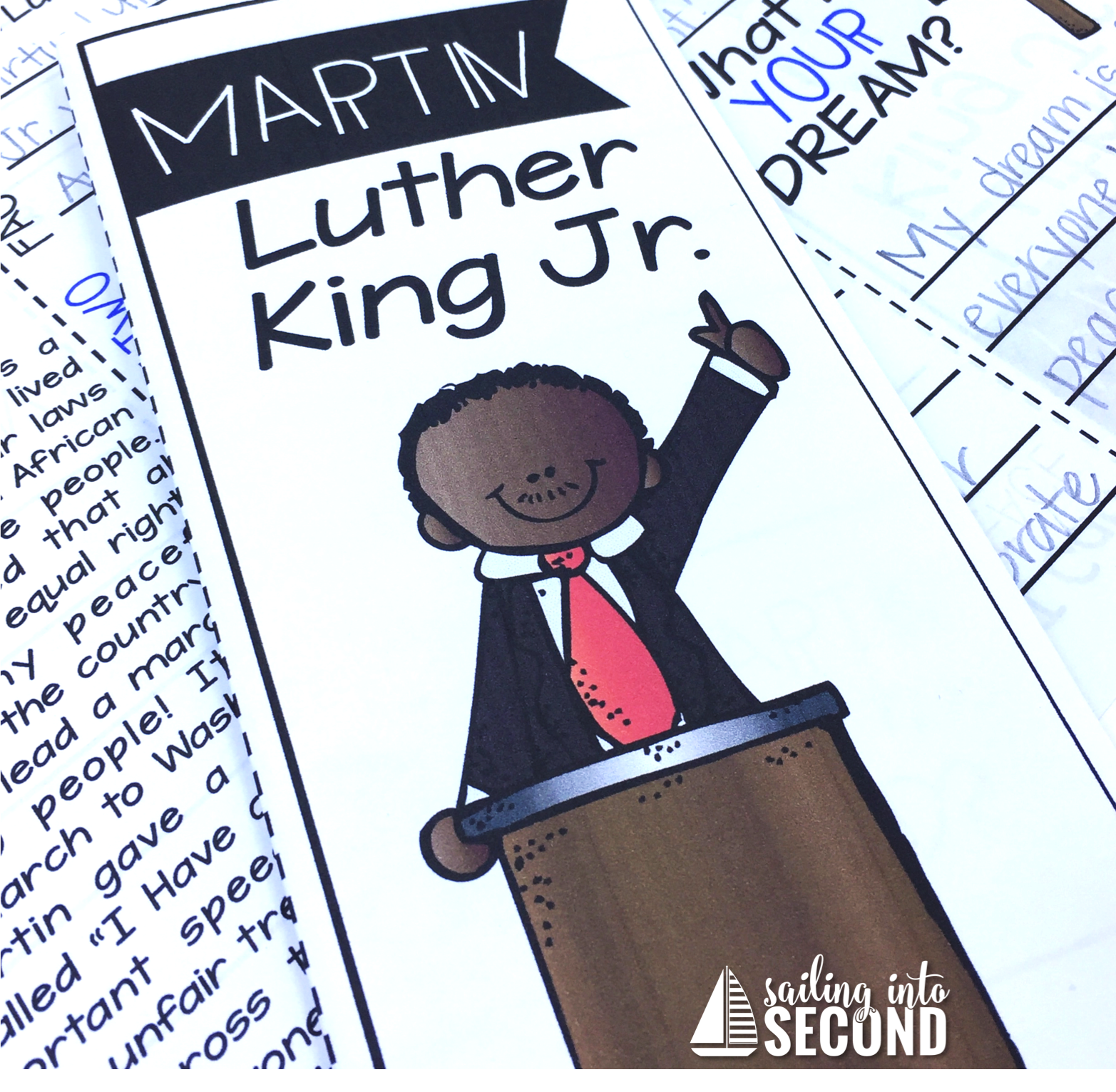This Martin Luther King, Jr. Day brochure will help your students learn all about this important American hero. An engaging close read, comprehension questions, and more! Easy to prep-just print and fold!