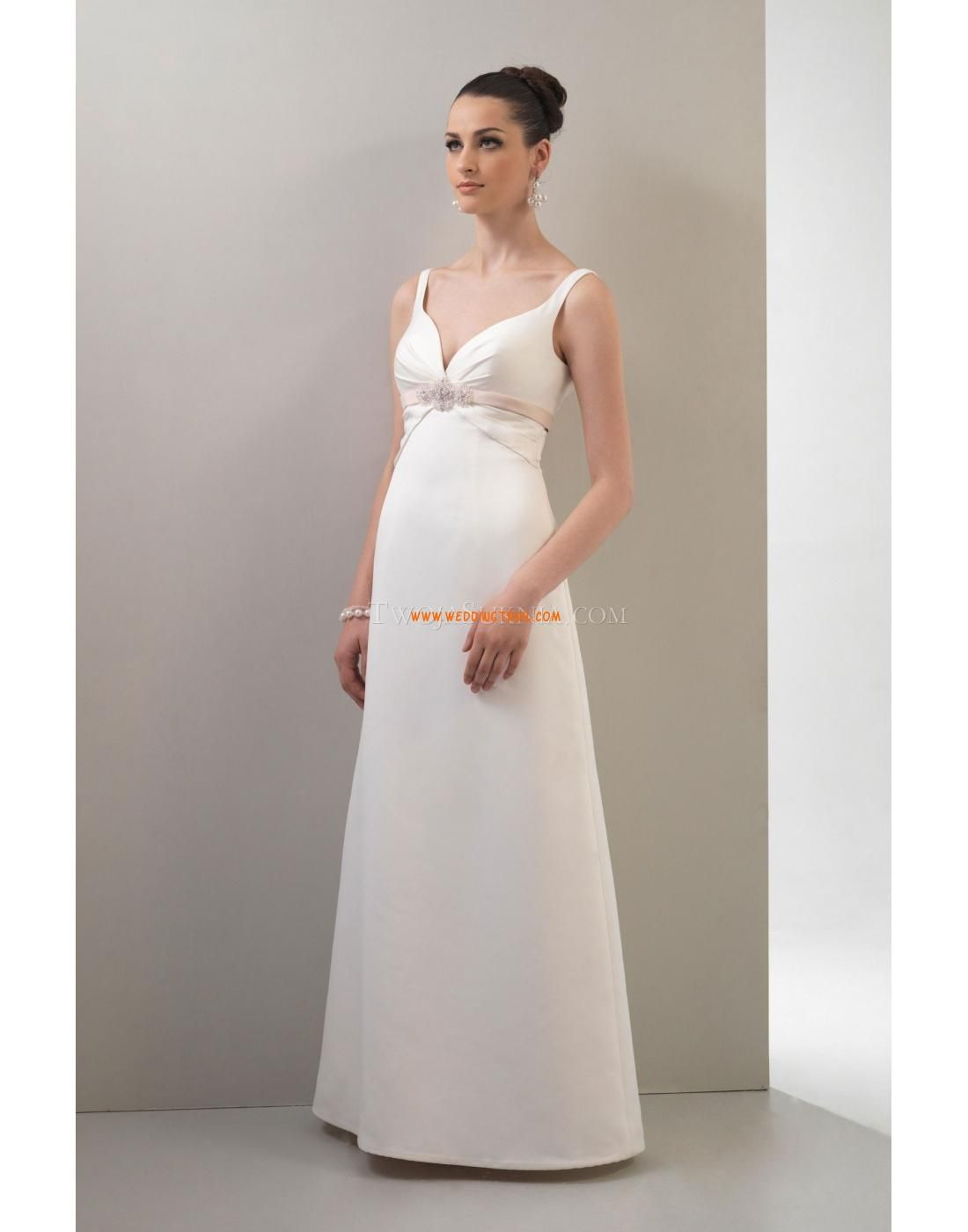 A-line Straps Satin Wedding Dress Venus VN6695 Venus Informal 2011 ...