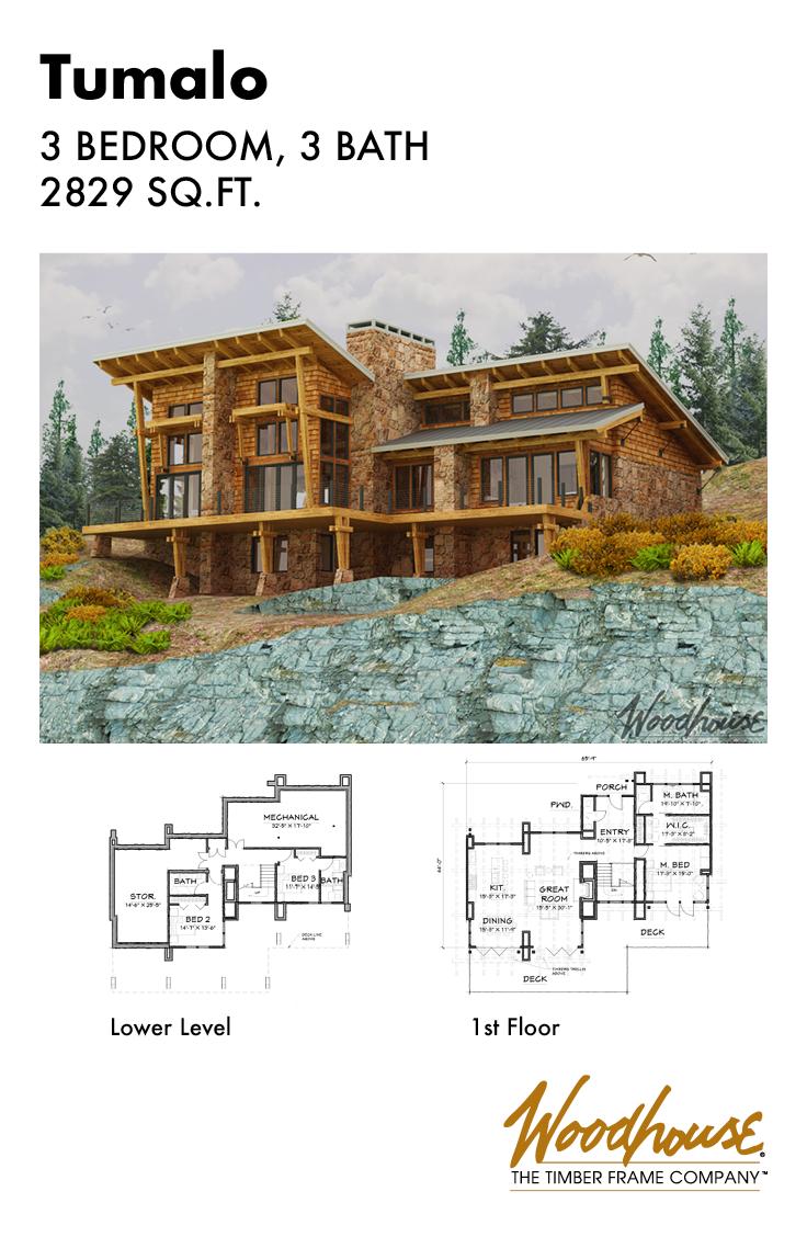 Tumalo V1 Woodhouse The Timber Frame Company Timber Frame Home Plans Modern Timber Frame Homes Mountain House Plans
