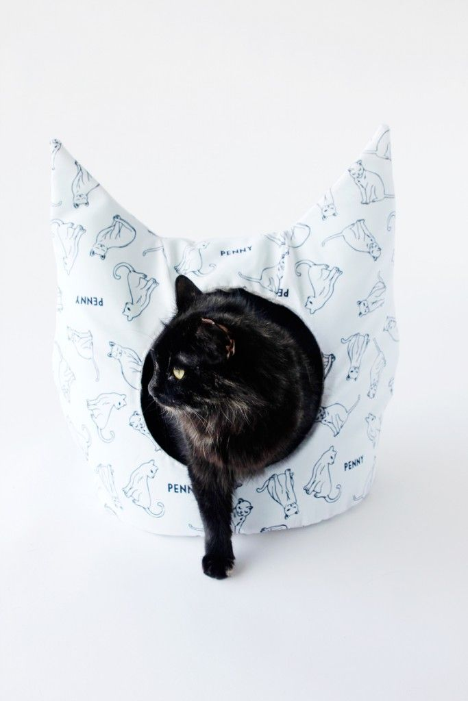 FREE Cat Bed Sewing Pattern | Costura, Gato y Mascotas