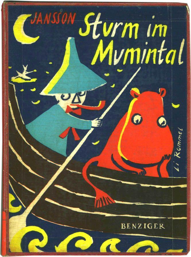Tove Jansson   Sturm im Mumintal   Benzinger (Germany 1955, 1st ed.) cover (c) Li Rommel