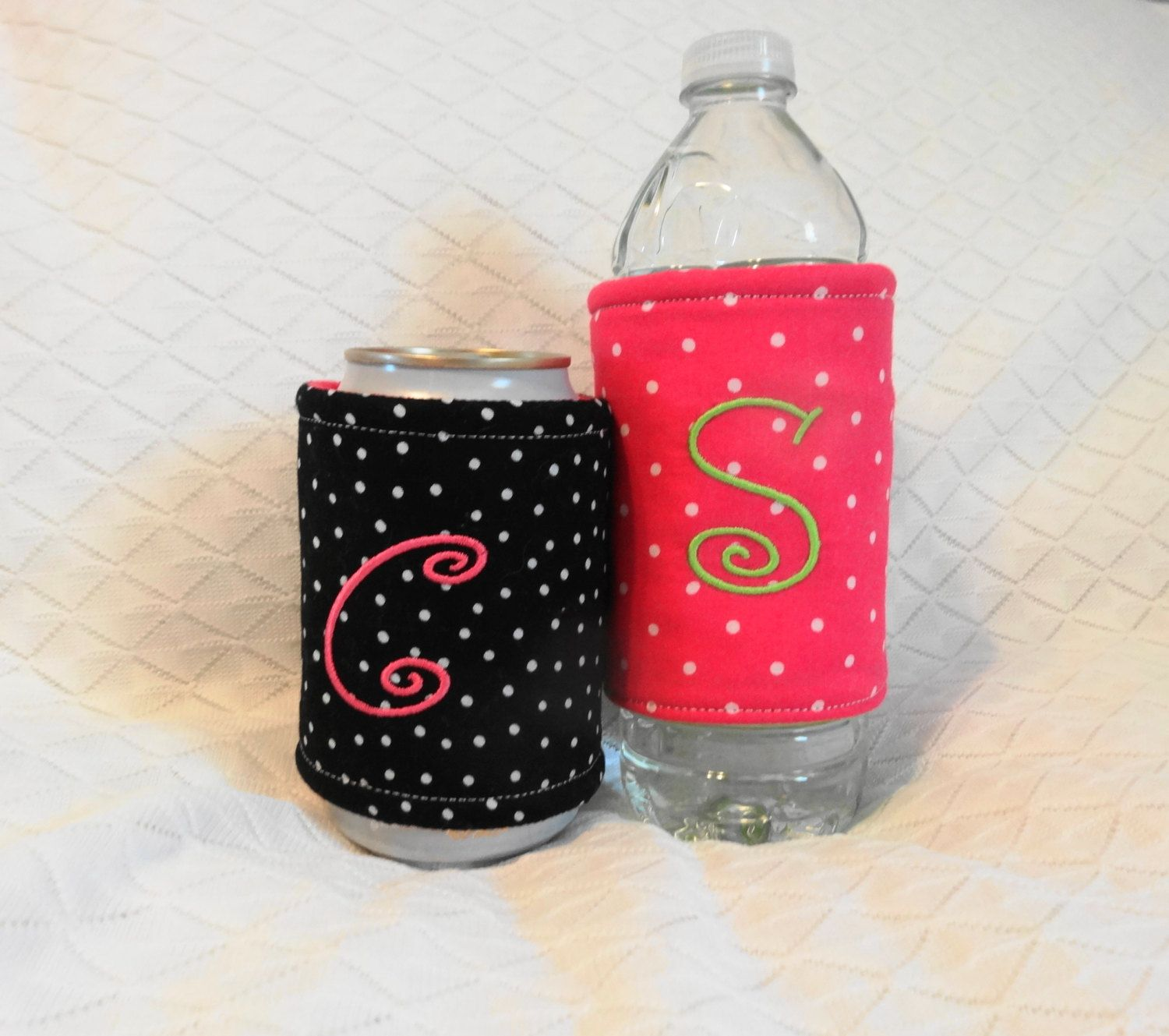 Personalized Can Koozie Can Cozy Custom Koozies Water Bottle Koozie Insulated Coozie Monogrammed Gift T Custom Koozies Water Bottle Koozie Monogram Gifts