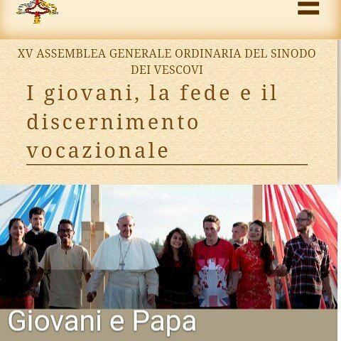 Jovenes entre 16-29 años.. El Papa nos invita a responder un formulario para preparar el Sínodo.  #PasaLaBola http://ift.tt/2t1X8Gx
