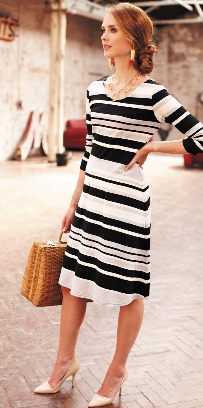 Easy parisian style with striped summer dress | Easy Summer Style ...