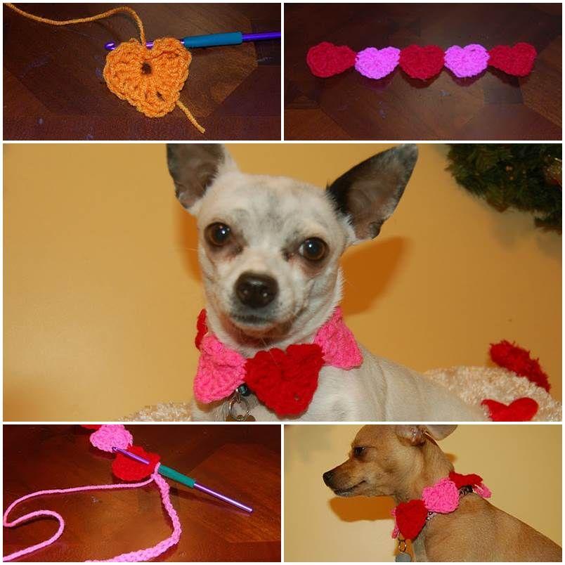 Diy Conversation Hearts Crochet Dog Collar Diy Pets Projects