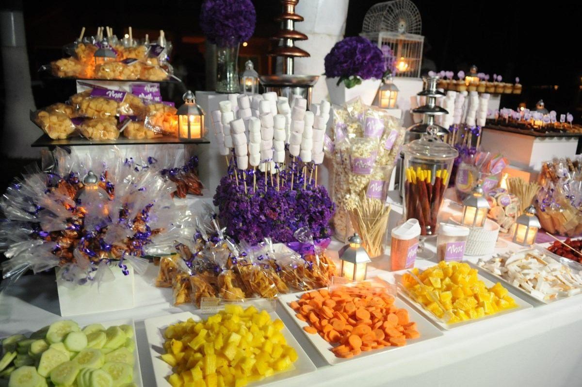Fuente de chocolate y chamoy mesa de dulces botanas - Postres para mesa de dulces ...
