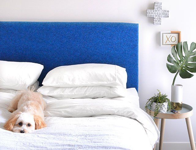 Easy Diy Carpet Headboard With Images Creative Headboard Headboard Leather Bed Headboard