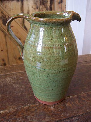 My uncle started this pottery, and this is his original jug design and glaze. White Horse Pottery WESTBURY WILTS