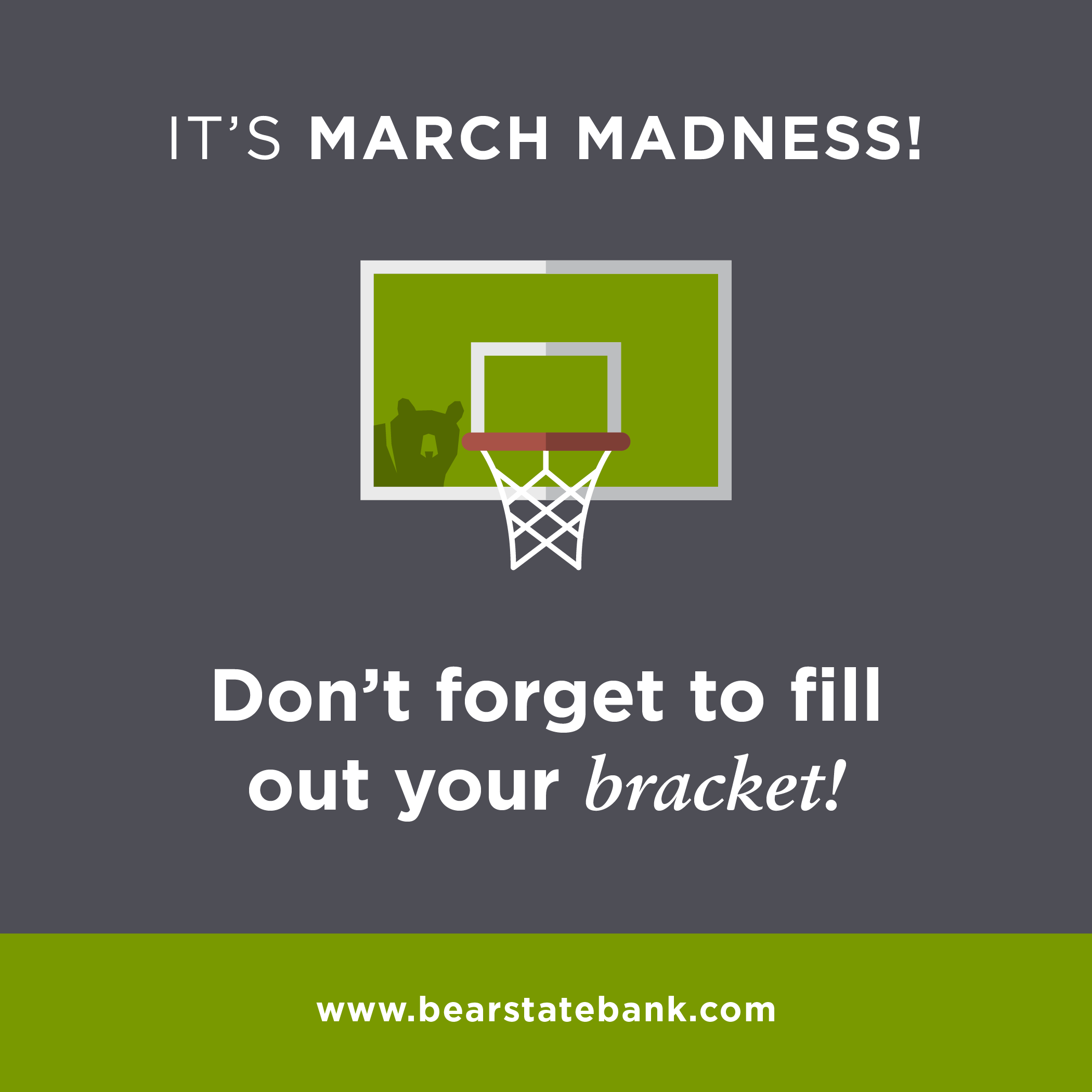 It's March Madness! Don't forget to fill out your bracket