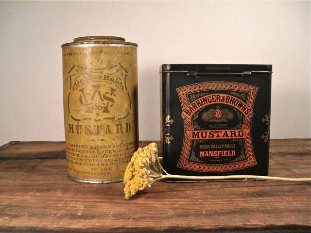 Vintage Advertising Tins Mustard Cans
