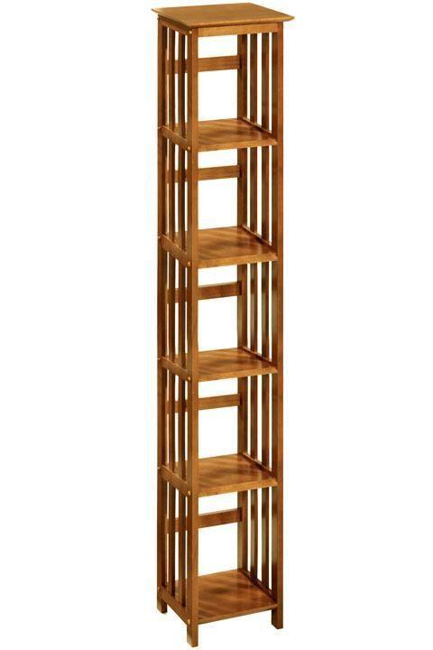 Mission Style 14 W 4 Shelf Bookshelf Storage Solutions Wooden Bookshelves Bookcase Homedecorators 72 H X 38 12 D 109