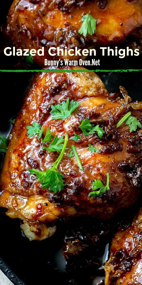 Photo of Glazed Soy Sauce Brown Sugar Chicken Thighs