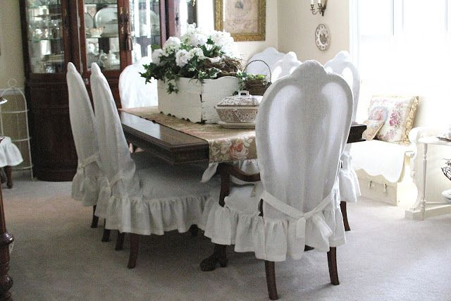 common ground : Dining Chairs Slip Cover Reveal