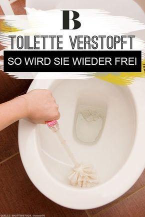 Toilette verstopft? So wird sie wieder frei! Toiletten