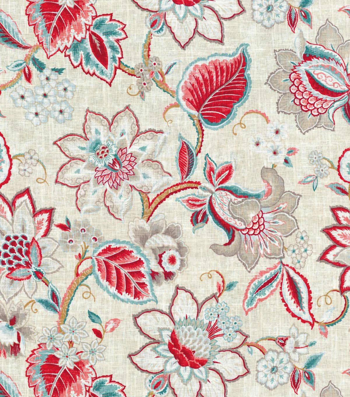 Waverly Upholstery Fabric 54 Floral Fresh Strawberry