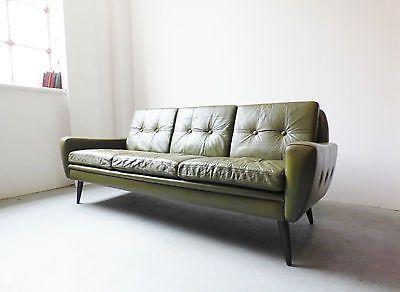 Sofa BedSleeper Sofa  s danish green leather sofa by skipper furniture vintage retro mid century